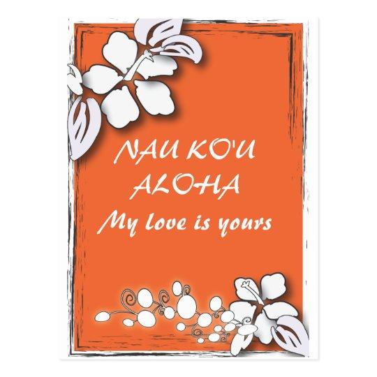 Orange Passion Flower Hawaii  Beach Wedding Postcard