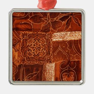 orange patchwork fabric christmas ornament