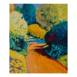 Orange Path Poster