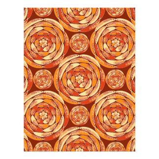Orange pattern 21.5 cm x 28 cm flyer