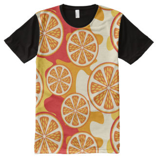 Orange pattern All-Over print T-Shirt