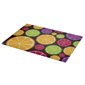 Orange pattern and background cutting board