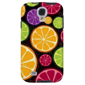 Orange pattern and background galaxy s4 case