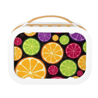 Orange pattern and background lunch box