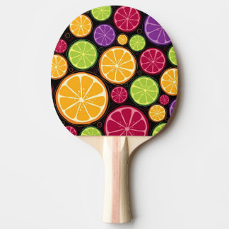 Orange pattern and background ping pong paddle