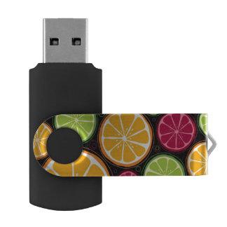 Orange pattern and background USB flash drive