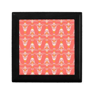 orange pattern gift box
