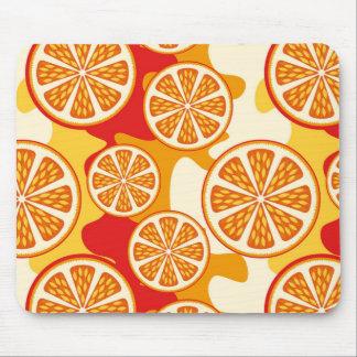 Orange pattern mouse pad