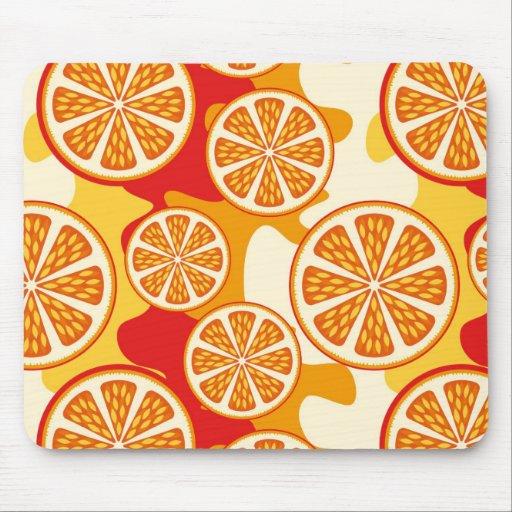 Orange pattern mousepad