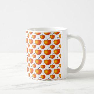 Orange Pattern Basic White Mug