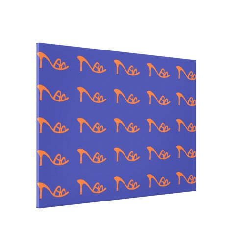 orange pattern shoes gallery wrapped canvas