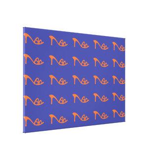 orange pattern shoes canvas prints