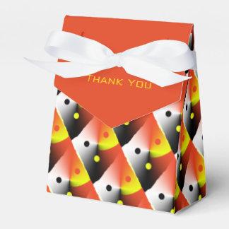 Orange Pattern Thank You Box
