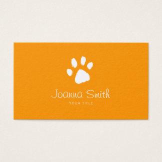 Orange Paw Dog Walking Pet Sitting Vet Appointment Business Card