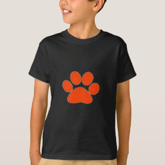 Orange Paw print apparel and more! T-Shirt