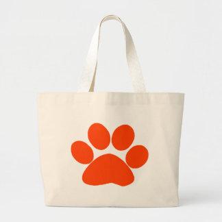 Orange Paw Print Bag