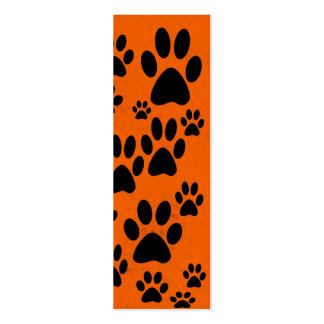 Orange Paws Bookmarks Pack Of Skinny Business Cards