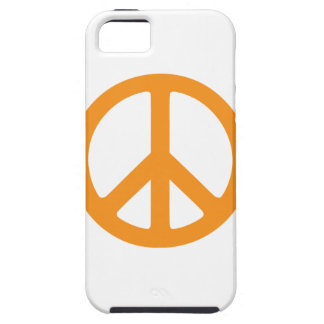 Orange Peace Sign iPhone 5 Covers