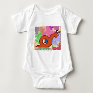 Orange Peace Snail Baby Bodysuit