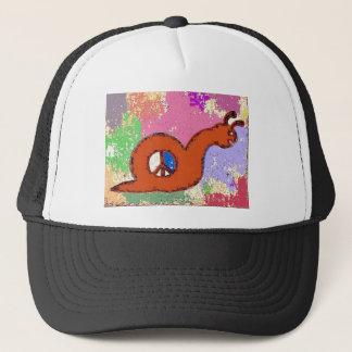 Orange Peace Snail Trucker Hat