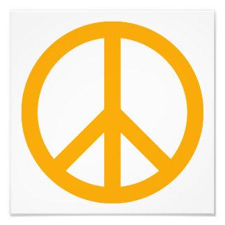 Orange Peace Symbol Photo Print