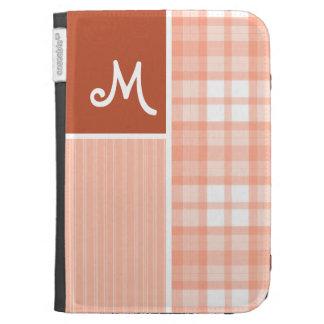 Orange Peach Plaid Kindle 3G Cover