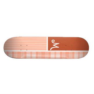 Orange, Peach Plaid Skateboards