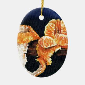Orange, Peeled Ceramic Oval Decoration