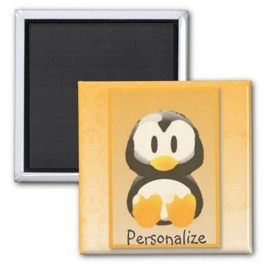 Orange Penguin Magnet