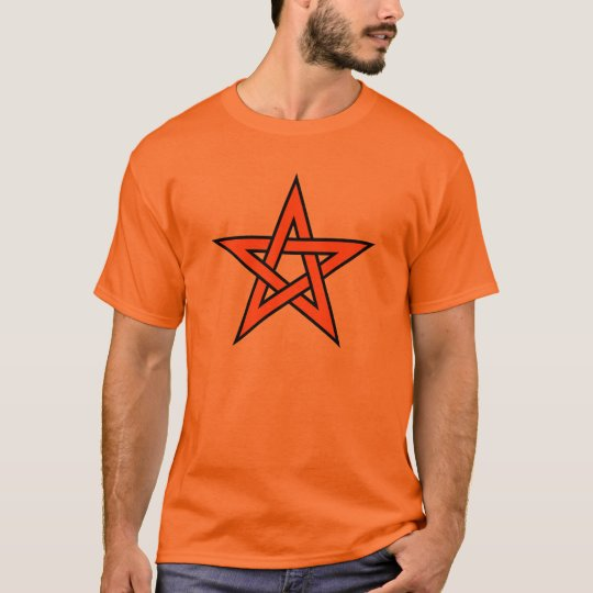 Orange Pentagram T-Shirt