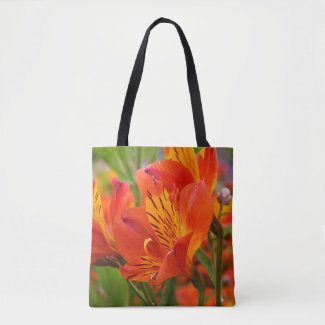 Orange Peruvian Lily Tote Bag