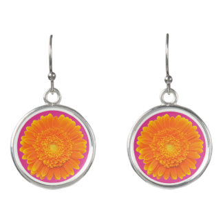 orange petals earrings
