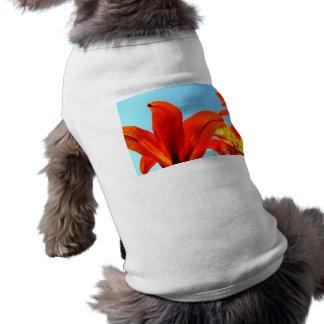 Orange Petals Sleeveless Dog Shirt