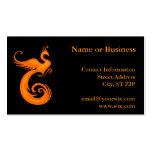Orange Phoenix Pack Of Standard Business Cards