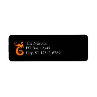Orange Phoenix Return Address Label