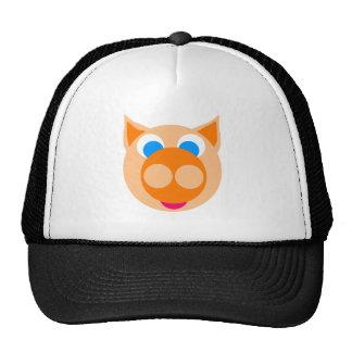 orange piggy trucker hats