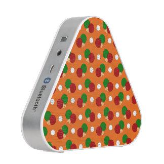 Orange ping pong pattern