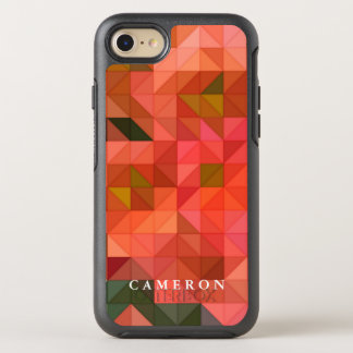 Orange Pink and Green Triangles Geometric Design OtterBox Symmetry iPhone 7 Case