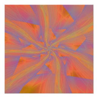Orange Pink and Violet Spiral Arms Poster