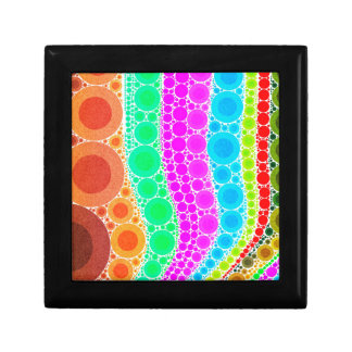 Orange Pink Blue Circle Abstract Small Square Gift Box