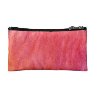 orange pink cosmetic bag