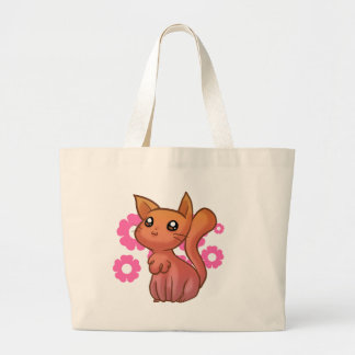 Orange Pink Cute Cartoon Cat Bag