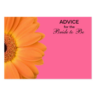 Orange & Pink Gerber Daisy Advice for the Bride Large Business Cards (Pack Of 100)