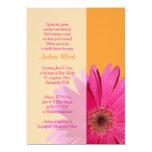 Orange Pink Gerbera Daisy Bridal Shower Invitation 13 Cm X 18 Cm Invitation Card