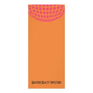 orange pink modern global circle custom invitation