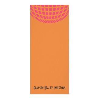 orange pink modern global circle 10 cm x 24 cm invitation card