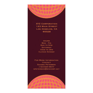 orange pink modern global circle rack card design