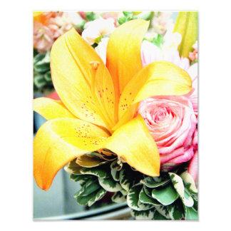 orange pink wedding flowers star lily rose photo