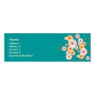 Orange-pinkish Daisy flowers Business Card