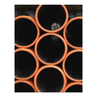 Orange Pipes Design 21.5 Cm X 28 Cm Flyer